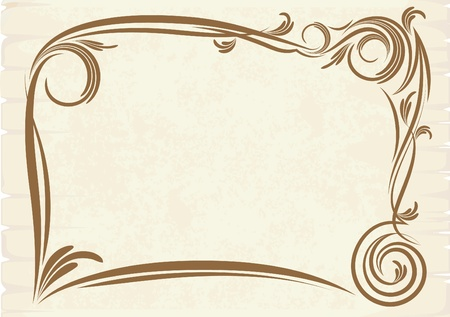 national plant: old frame (vector) Illustration