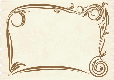 threadbare: vecchio telaio (vector)