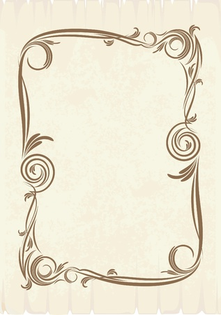 ringlet: Elegant vintage background.  Illustration