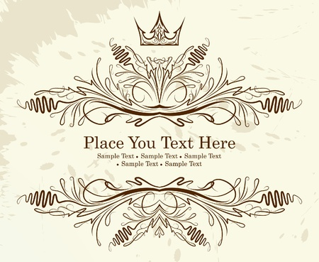 Vintage frame with crown Stock Vector - 10708718