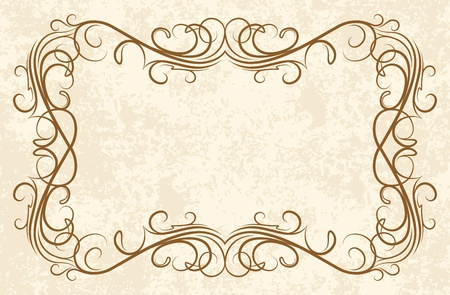 gothic revival style: old frame (vector) Illustration