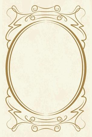 elegant oval frame  Stock Vector - 10708771
