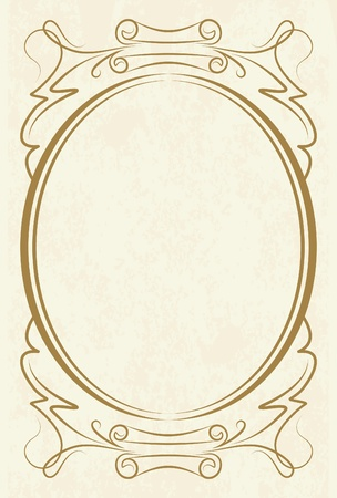 elegant oval frame Stock Vector - 10708771