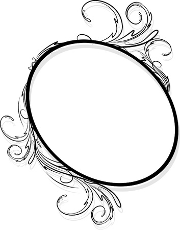 Elegant oval frame  Stock Vector - 10707414