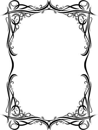 accent abstract: Elegant decorative frame. Illustration