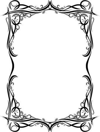 Elegant decorative frame. Vettoriali
