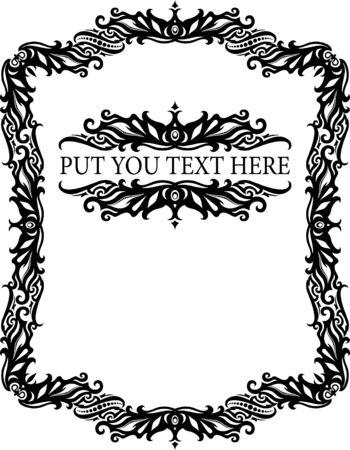 Elegant decorative frame. Vector