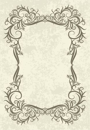 cartouche: rich-decorated floral frame
