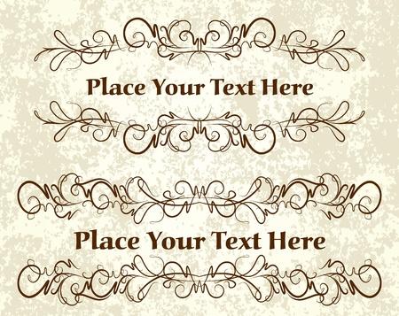Vintage frames for text  Vector