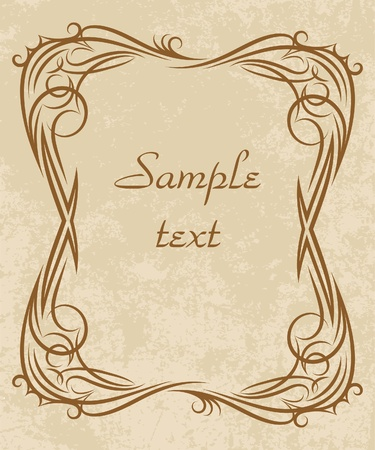 rich-decorated floral frame  Vector