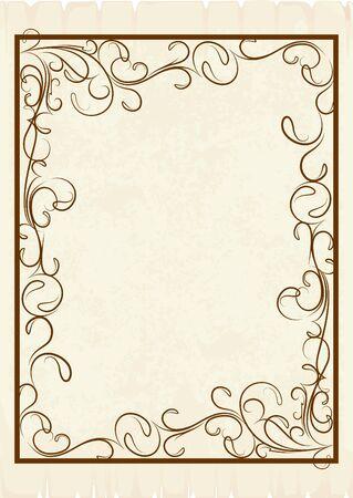 old frame (vector) Stock Vector - 10708903