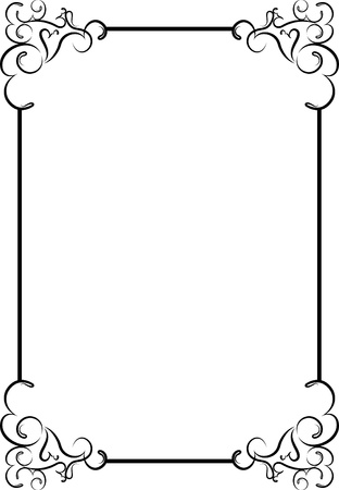 twig: Elegant decorative frame. Illustration