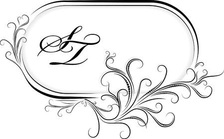 óvalo: Hermoso marco ovalado. Vector