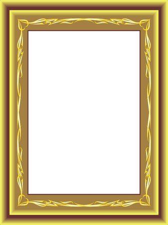 antique gold frame (vector)  Vector