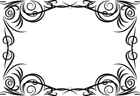 cartouche: Elegant decorative frame. Illustration