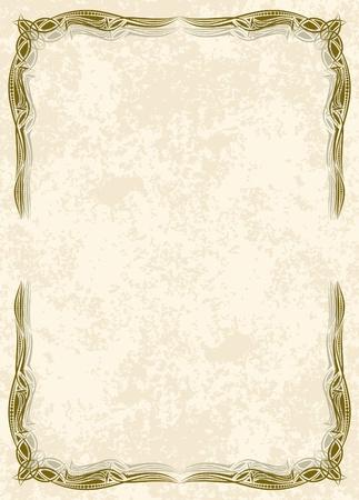 old parchment: Decorative vintage frame. Vector