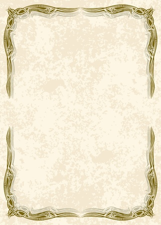 parşömen: Decorative vintage frame. Vector