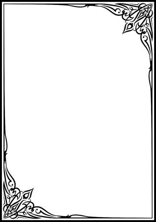 Elegant decorative frame. Illustration