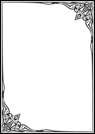forging: Elegant decorative frame. Illustration