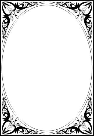 Elegant decorative frame. Stock Illustratie