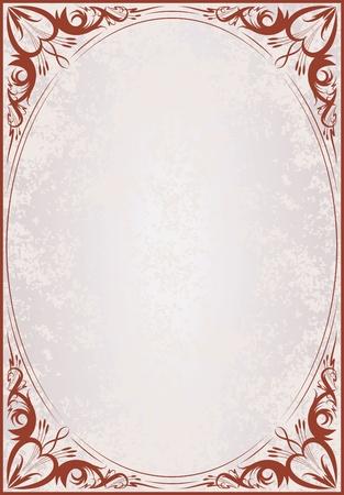 Elegant vintage frame.  Vector