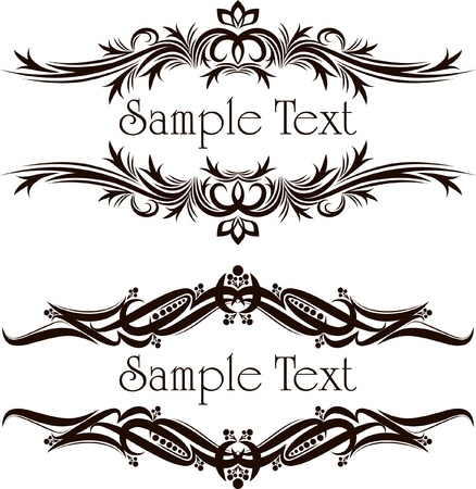 Vintage frames for text