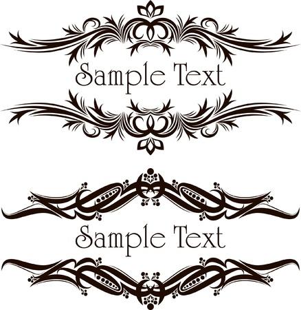 Vintage kaders voor tekst Stock Illustratie
