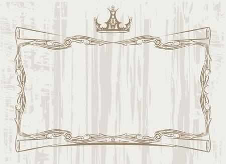 etiqueta: Vintage frame with crown