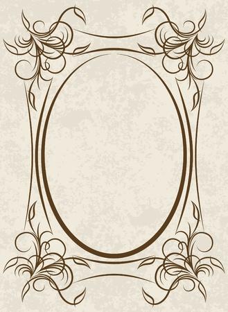 Elegant oval frame Stock Vector - 10708830