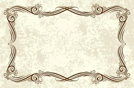 accent abstract: Elegant vintage background.  Illustration