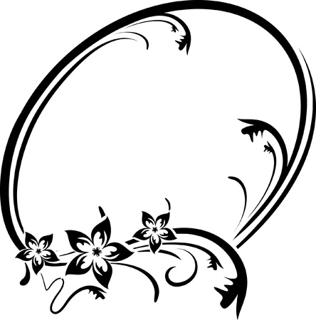 oval frame: Elegant oval frame