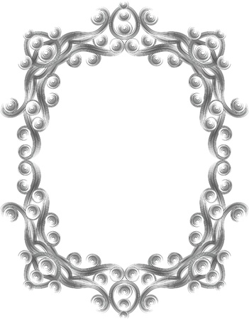 accent abstract: Elegant oval frame