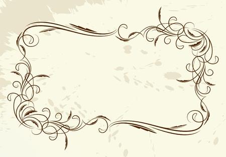 Vintage marco vector (lote de im�genes similares en mi galer�a. Por favor, visite)