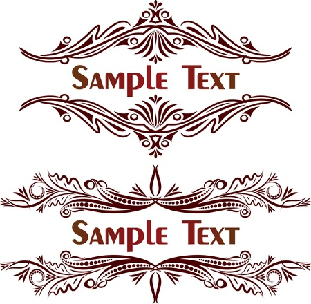 Pair of vintage decors. Lot of similar images in my gallery.  Stock Vector - 10707410