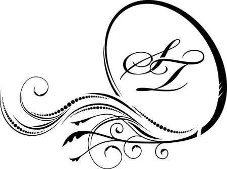 scroll background: Elegant oval frame