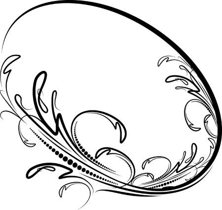 Elegant oval frame  Vector