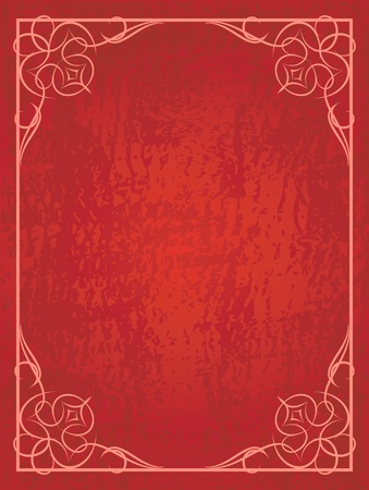 book cover design: Abstract red background