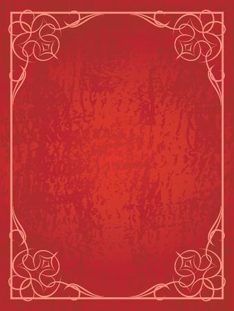 portadas de libros: Fondo rojo abstracto