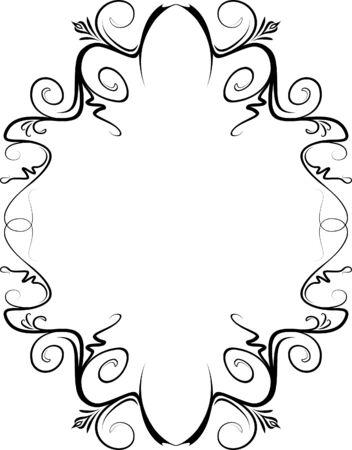 Elegant decorative frame. Stock Vector - 10707084