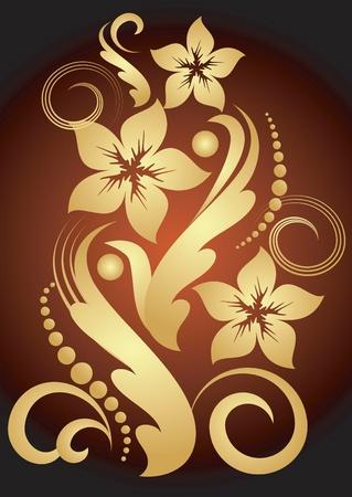 golden flower  Vector