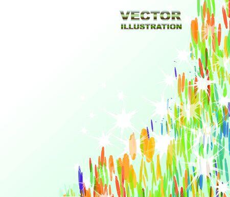 Colorful decorative corner  Stock Vector - 10709149