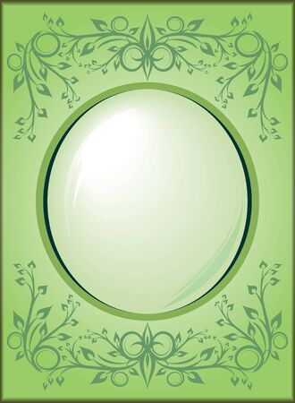 oval  alcohol: decorative frame  Illustration