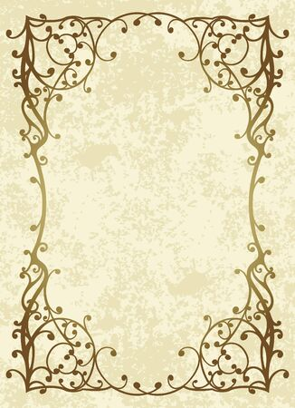 Elegant vintage background.  Illustration