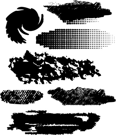 grunge brushes line.  Vector