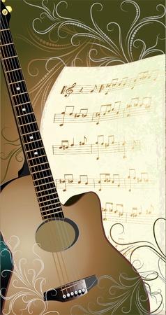 guitarra clásica: m�sica de fondo abstracto con guitarra y autorizaci�n