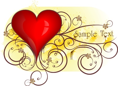 Heart background.  Vector