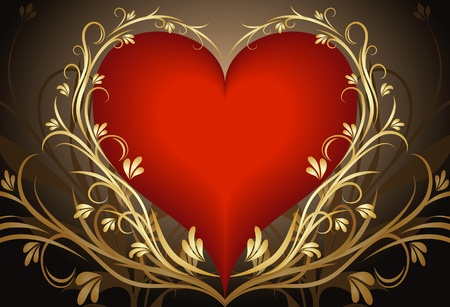 Heart background.  Vector