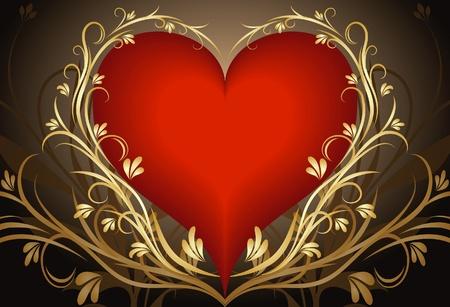 rhetorical: Heart background.