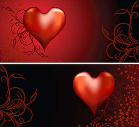 rhetorical: Hearts background.
