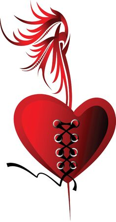 Design for Valentines card or tattoo.  Vector